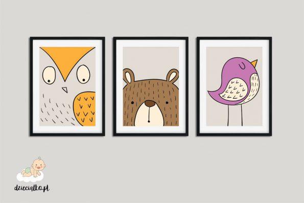 """Plakaty """"Przyjaciele z lasu"""""""