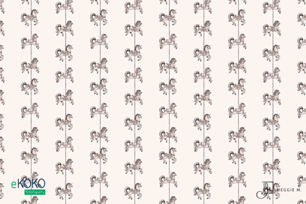 wzór małe koniki z karuzeli - fototapeta dla dzieci